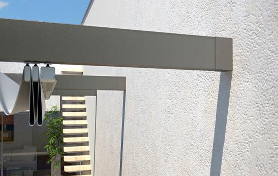 pergola en aluminium entre deux murs. Black Bedroom Furniture Sets. Home Design Ideas