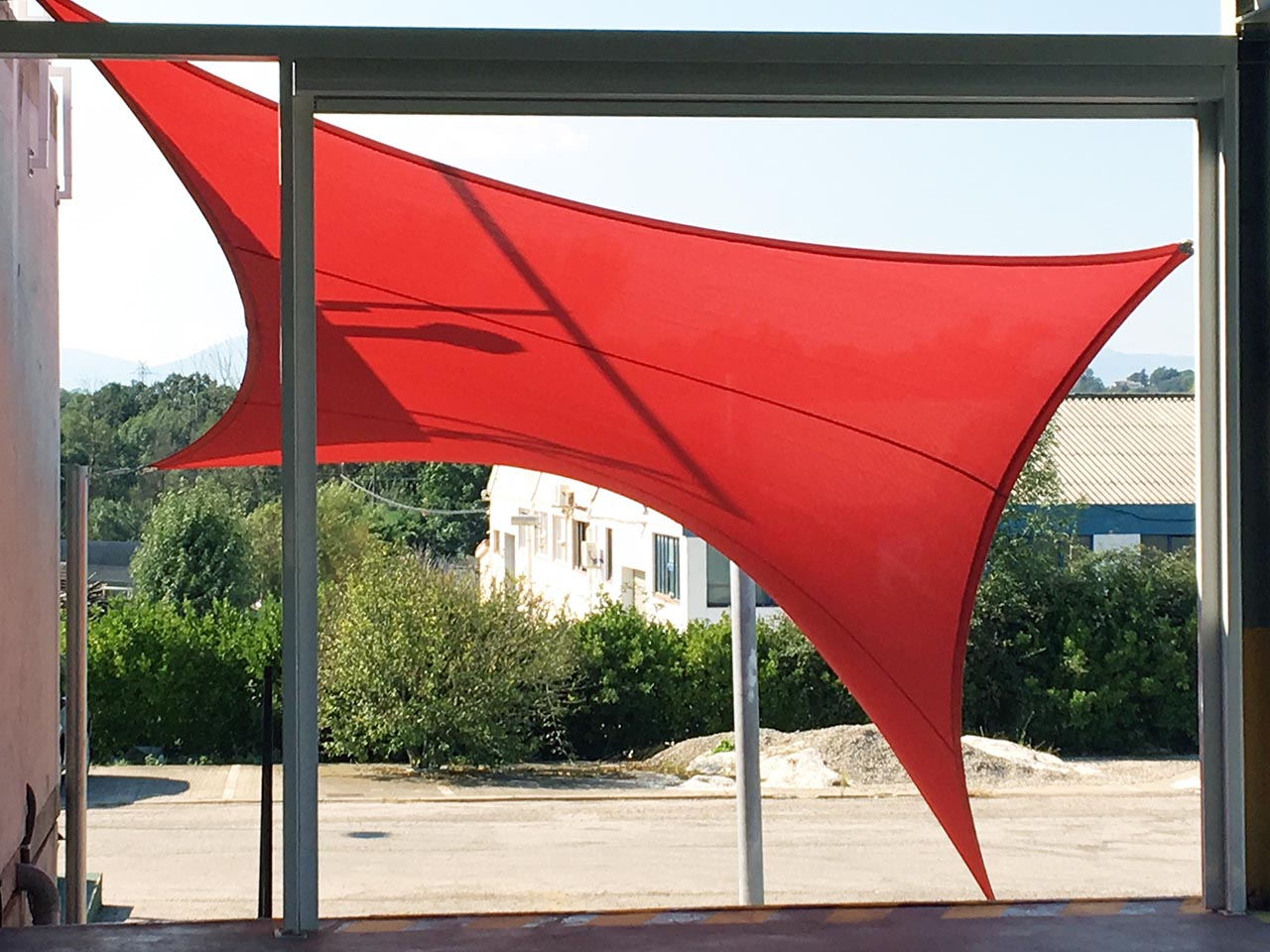 Shade Sails with steel